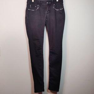 Miss Me Black Embellished Skinny Denim Jeans 27